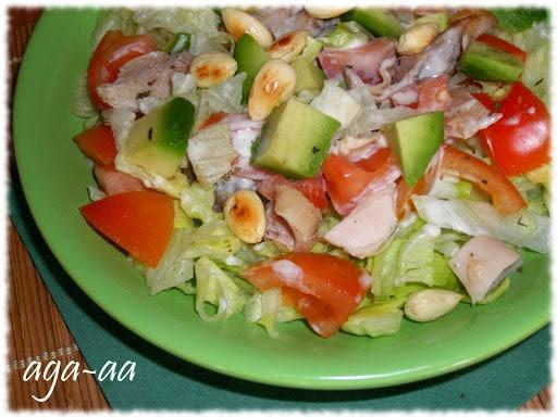 salatka z kurczakiem