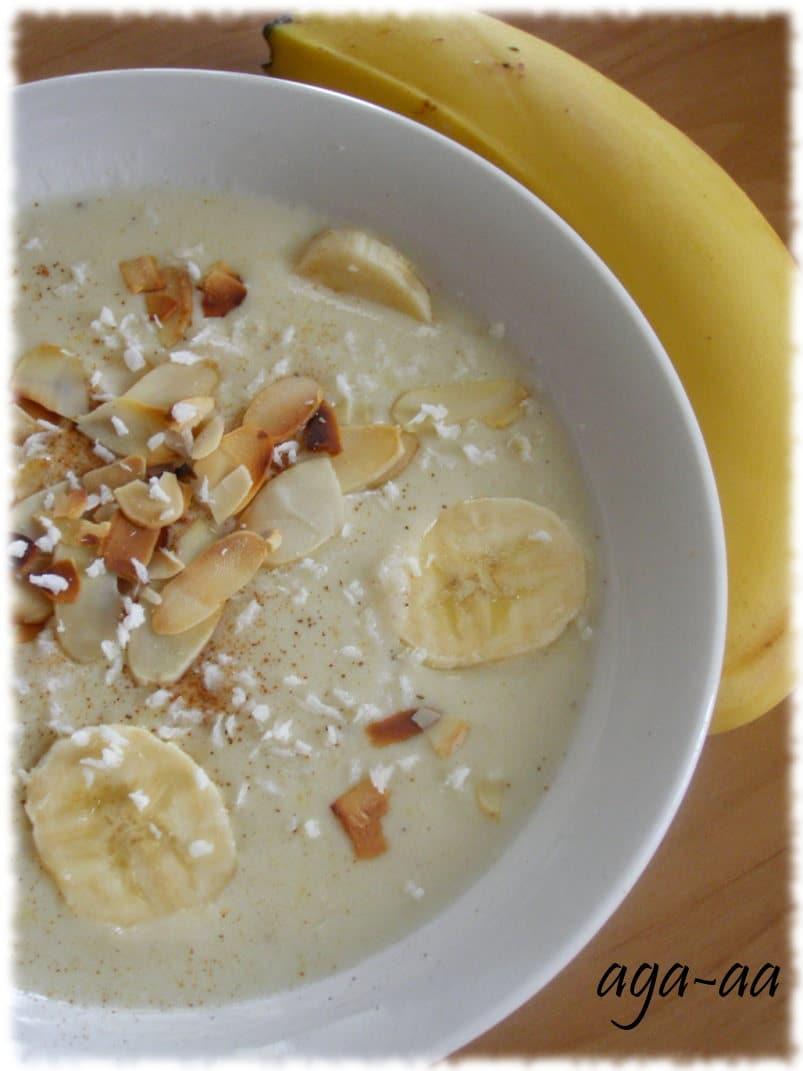 Zupa bananowa z mleczkiem kokosowym
