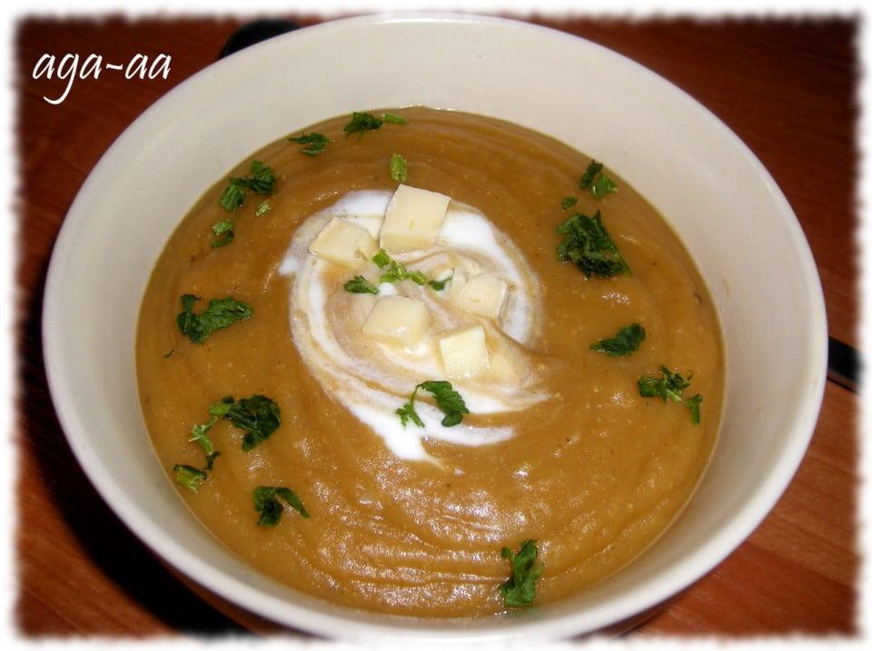 Zupa ziemniaczana z soczewicą