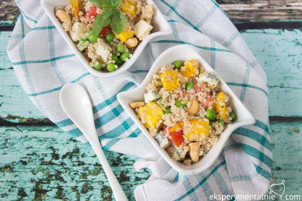 quinoa z pieczoną dynią i serem