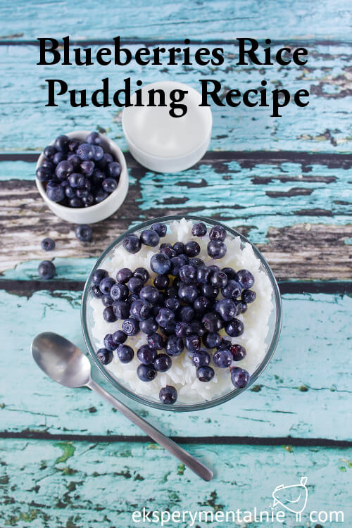 Blueberries Rice Pudding recipe