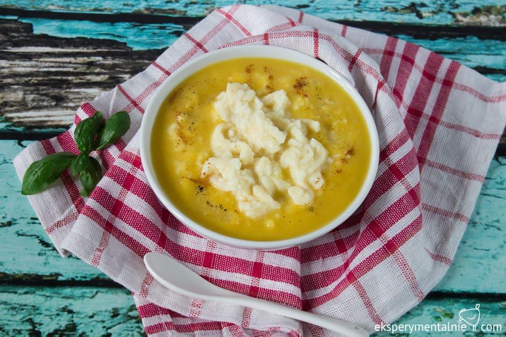 zupa mleczna z dynią i lanymi kluskami