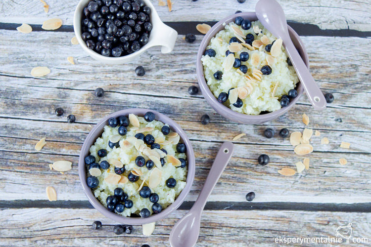 blueberry millet porridge