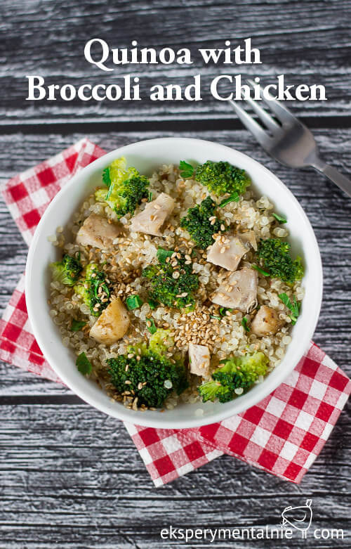 quinoa with broccoli and chicken