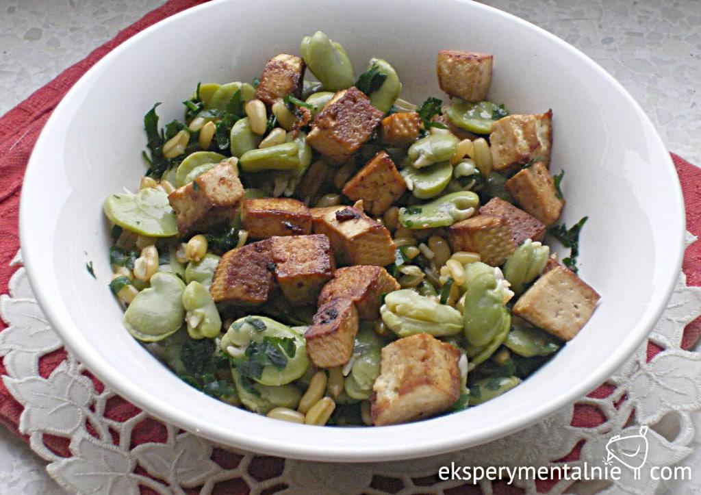 kamut z bobem i tofu