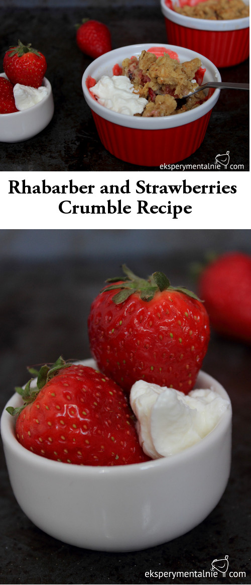 rhabarber and strawberries crumble