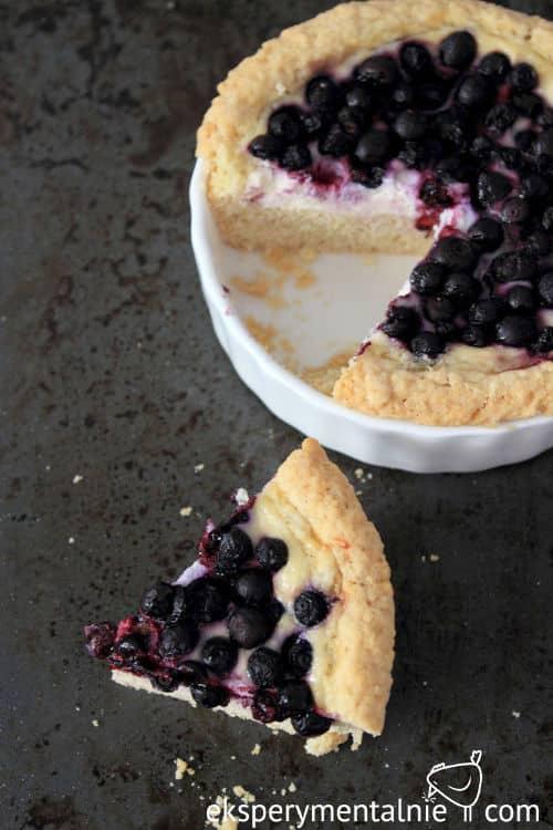 ciasto z jagodami i serem