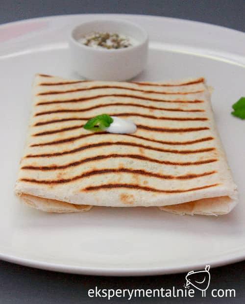 grillowana tortilla z pieczoną dynią