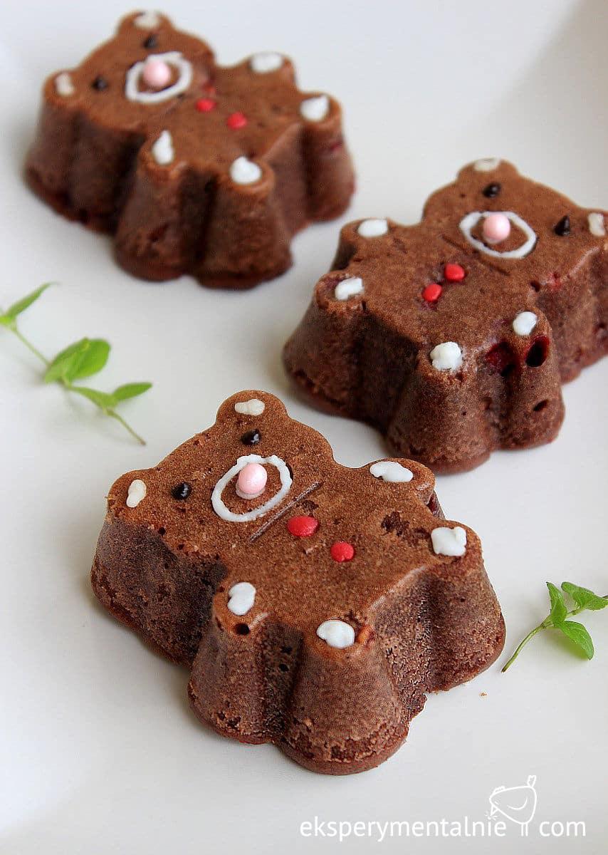 kakaowe babeczki z malinami