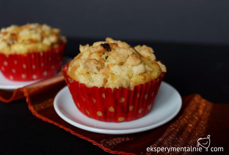 muffinki z jabłkami eksperymentalnie