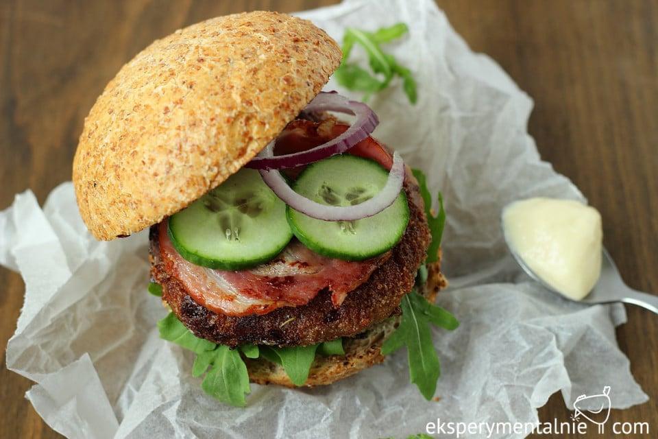 domowe burgery z bekonem