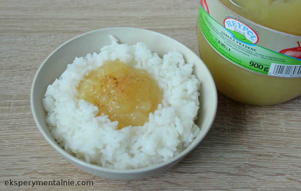 ryż z jablkami