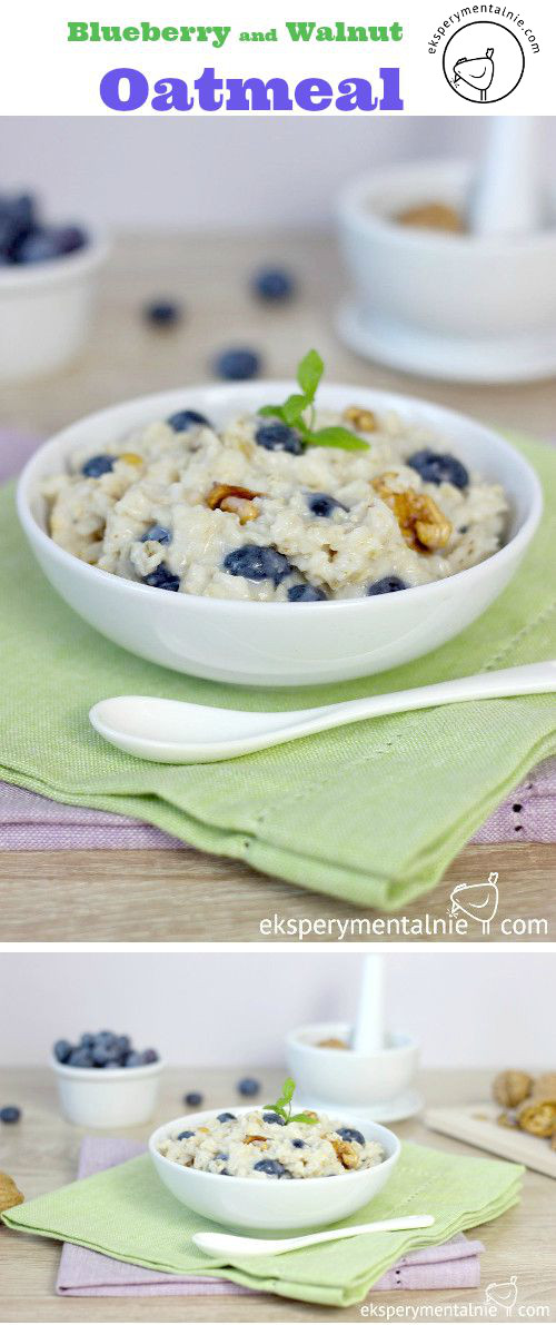 Blueberry and walnuts oatmeal