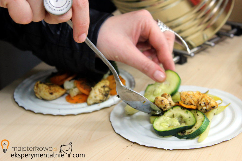 kurczak z warzywami na parze