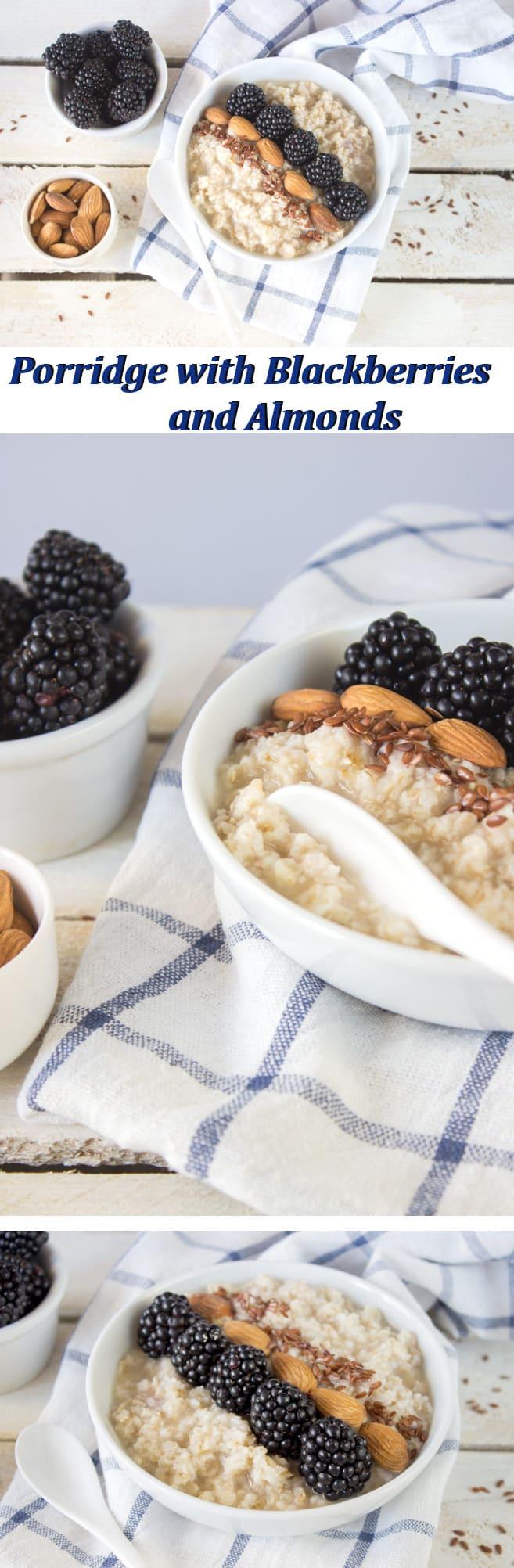 Porridge with Blackberries