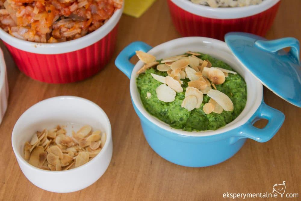 pasta z zielonego groszku i rukoli