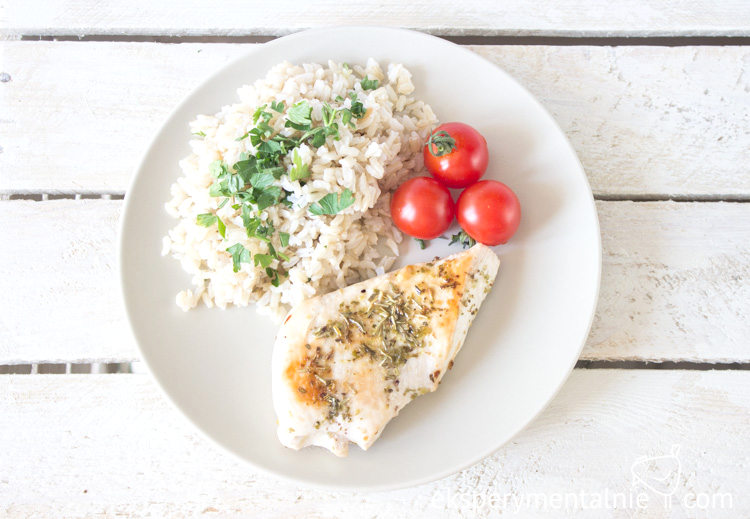 pierś z kurczaka z ryżem