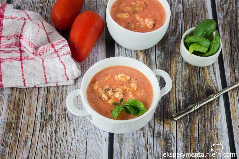 zupa pomidorowa z lanymi kluskami