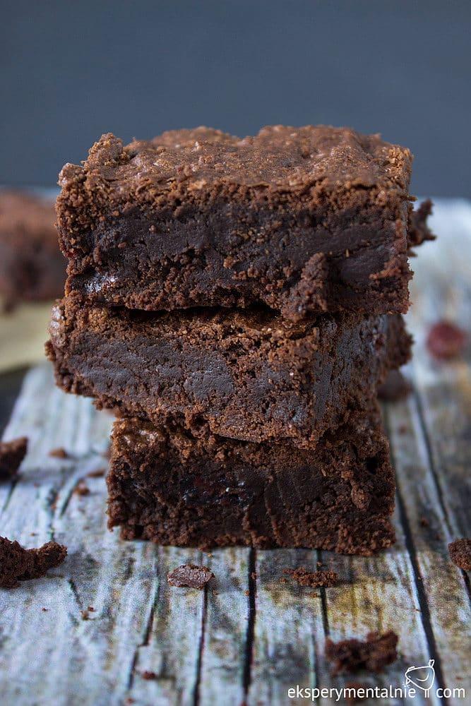 brownie bezglutenowe z żurawina-5