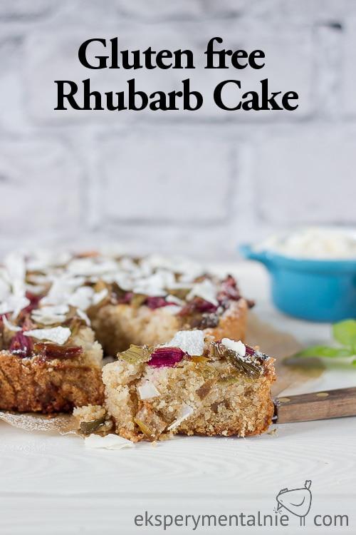 Gluten free Rhubarb cake