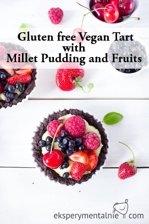 Gluten free Vegan Tart with millet pudding