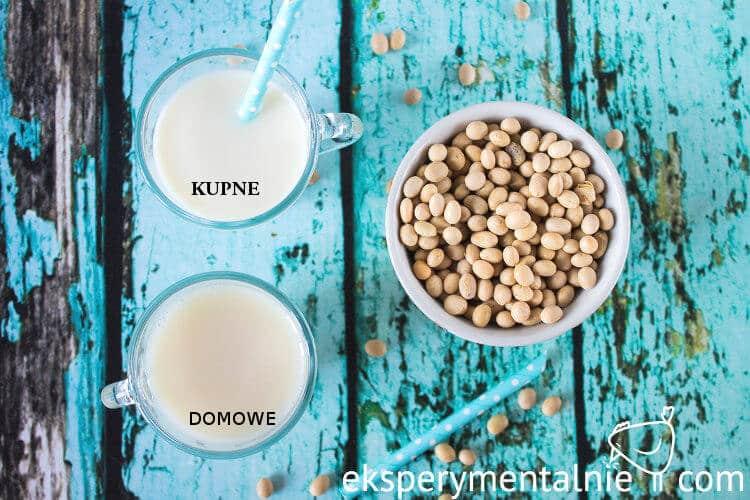 domowe mleko sojowe a kupne mleko sojowe