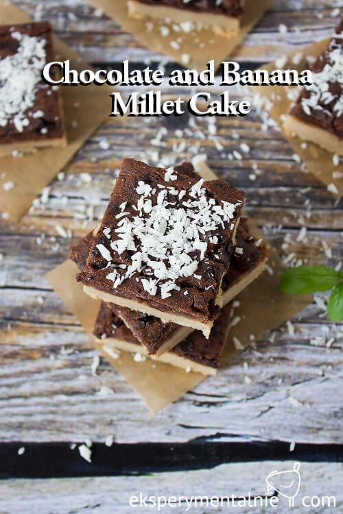Chocolate and Banana Millet Cake