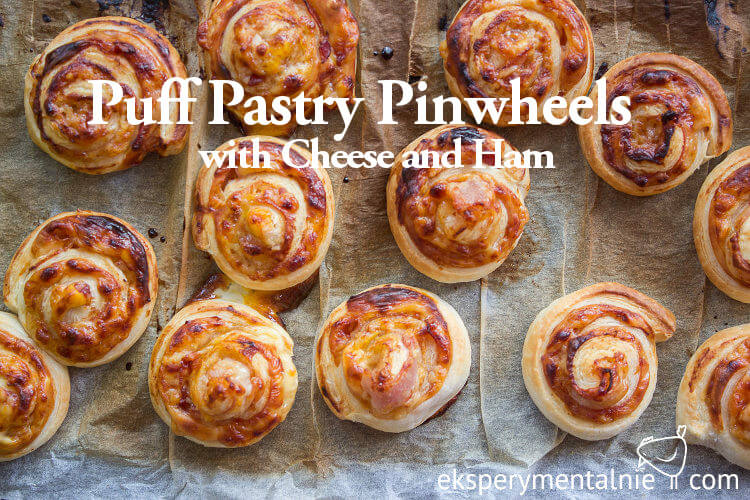 Puff Pastry Pinwheels with Cheese and Ham