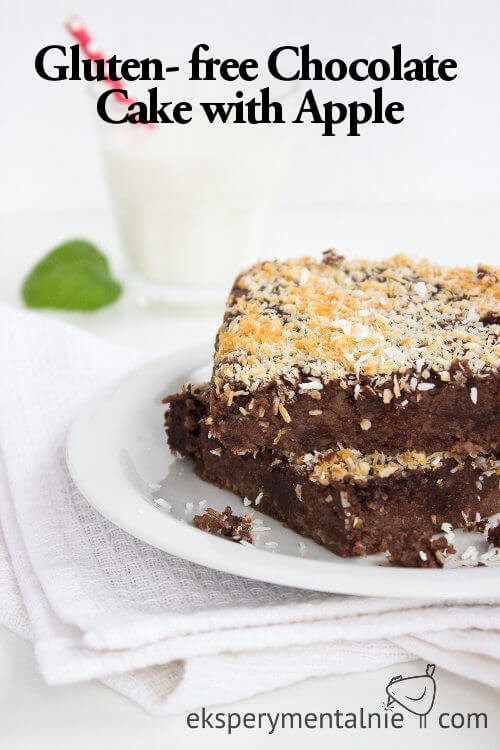 Gluten- free Chocolate Cake with Apple