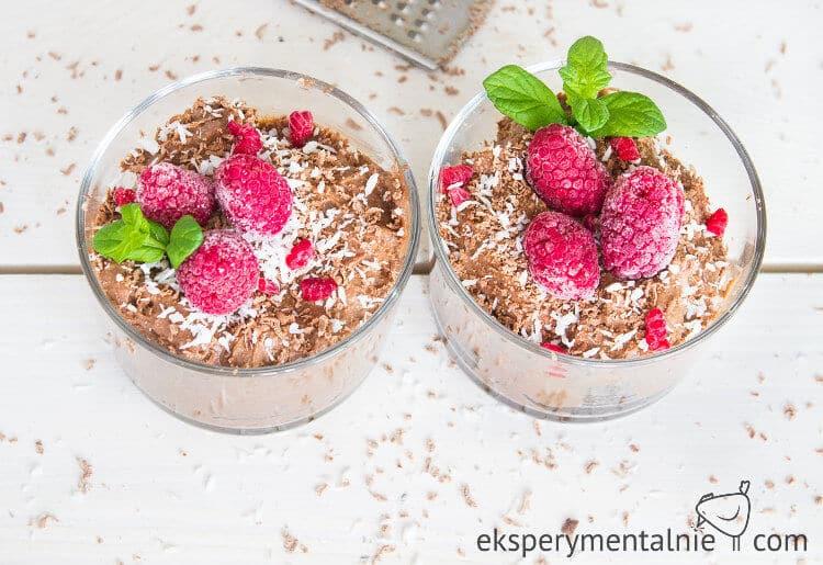 czekoladowy budyń jaglany