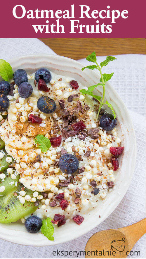 oatmeal recipe with fruits