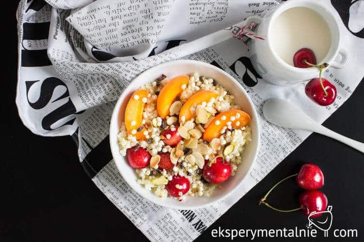 kasza jaglana na słodko z owocami na śniadanie 1