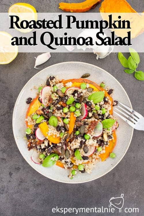 Roasted pumpkin and quinoa salad