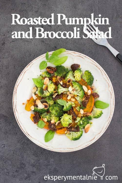 roasted pumpkin and broccoli salad