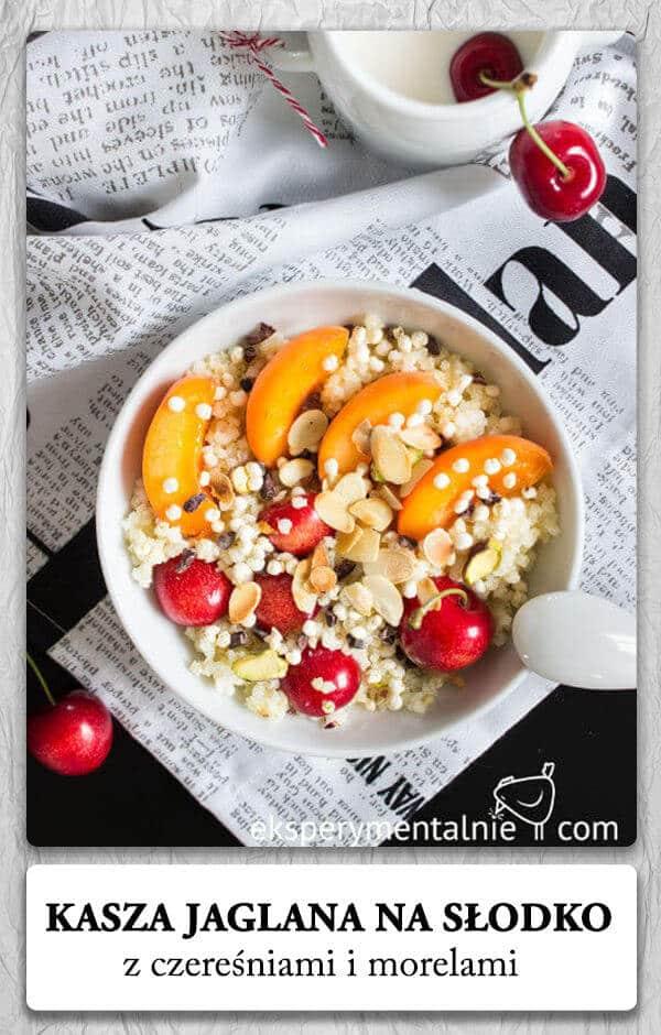 Kasza jaglana na słodko na śniadanie