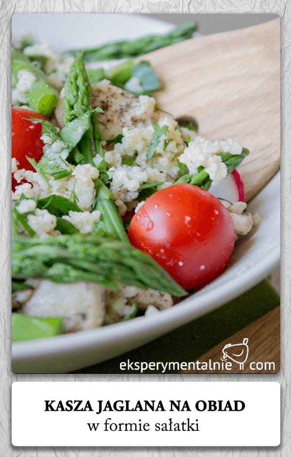 Kasza jaglana z warzywami w formie z sałatki