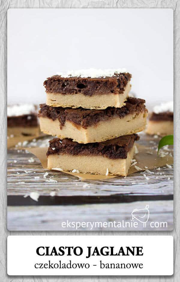 Ciasto czekoladowo-bananowe z kaszy jaglanej
