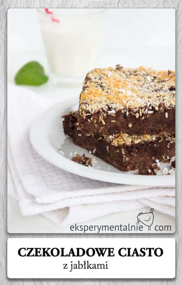 Jaglane ciasto czekoladowe z jabłkami