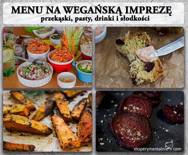 menu na wegańską imprezę