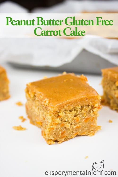 Peanut Butter Gluten free carrot cake