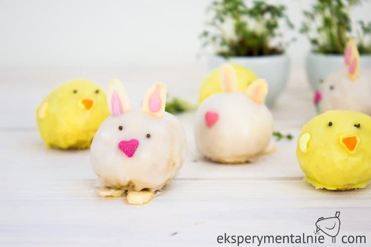 Wielkanocne trufle z białej czekolady