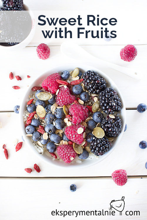 sweet rice with fruits
